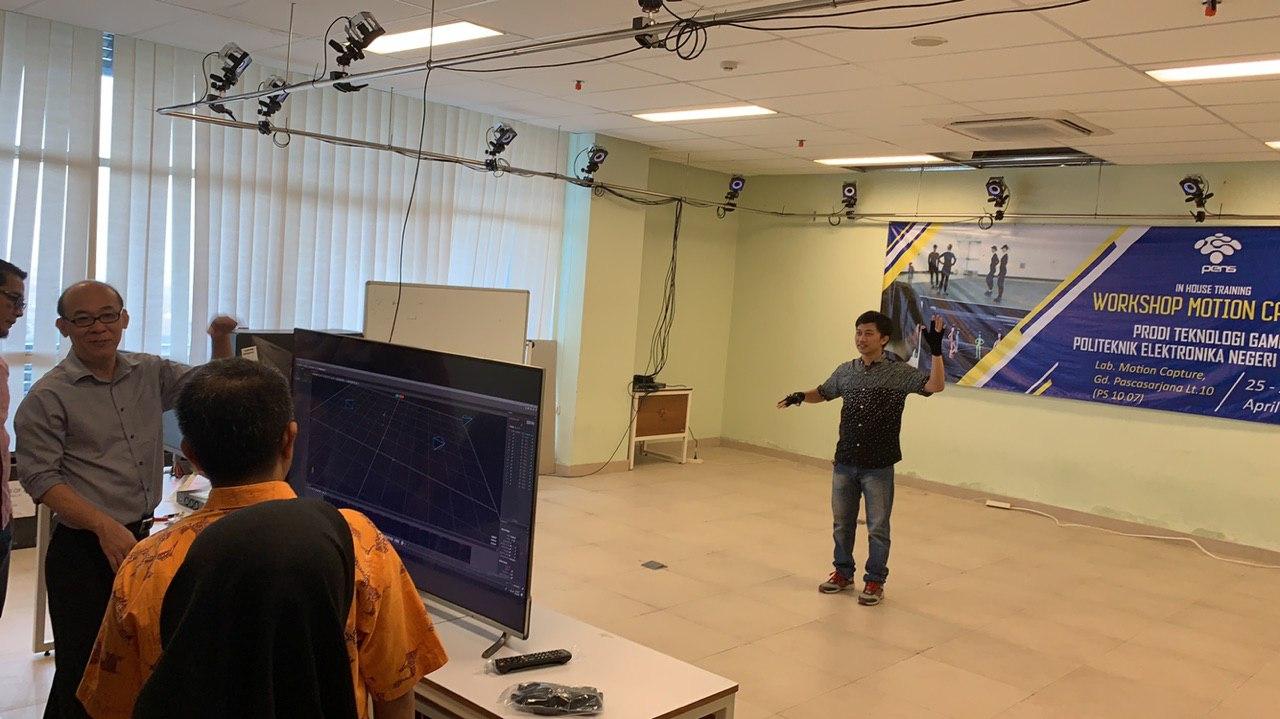 Workshop Motion Capture dengan instruktur dari Singapura