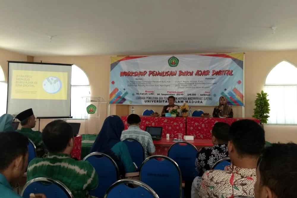 workshop penulisan buku ajar di universitas islam madura